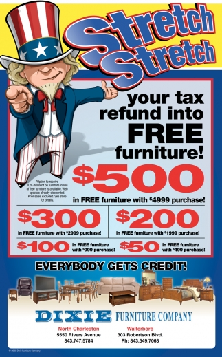 Stretch Your Tax Refund Into Free Furniture!