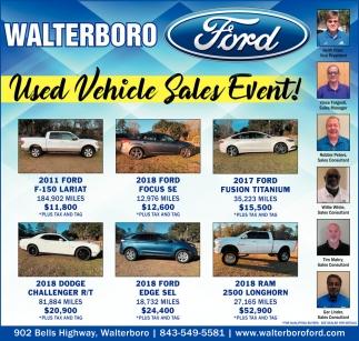 Used Vehicle Sales Event!