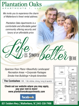 Life Is Simply Better Here, Plantation Oaks Apartments Llc ...