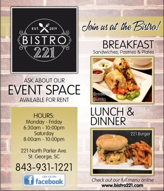 Join Us At The Bistro!