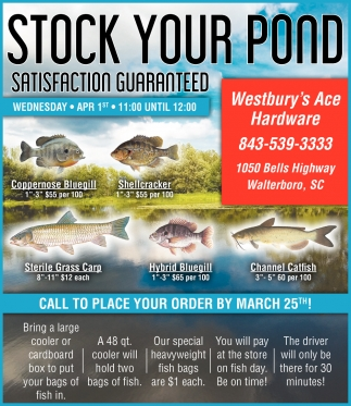 Stock Your Pond, Satisfaction Guaranteed